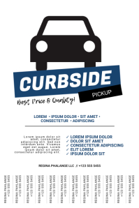 Curbside Pickup Flyer Template Poster