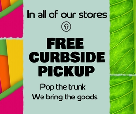 curbside pickup/free delivery/online shopping Mellemstort rektangel template