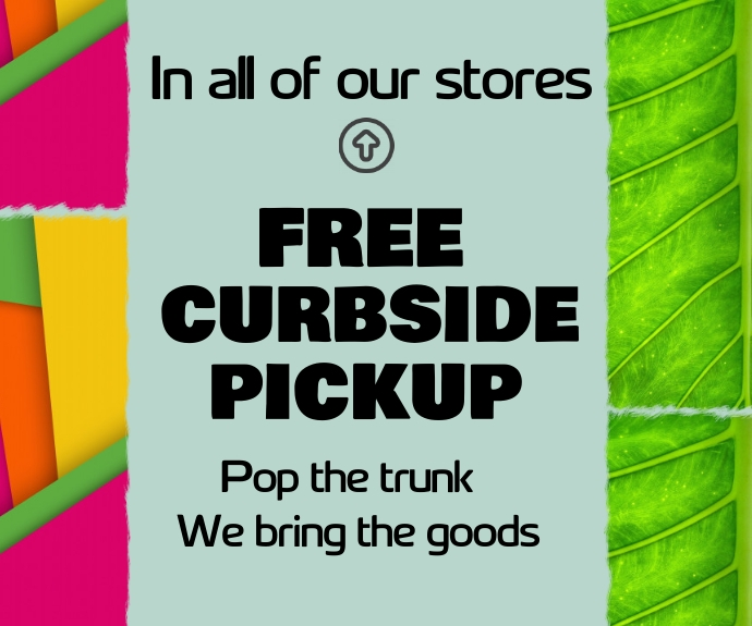 curbside pickup/free delivery/online shopping Persegi Panjang Sedang template