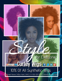 Curly Wig Sale Template
