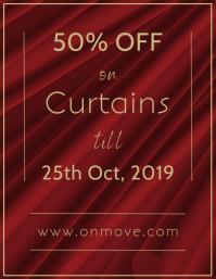 Curtains Sale (Discount / off) 传单(美国信函) template