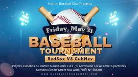 Custom Baseball Tournament Registration Banner