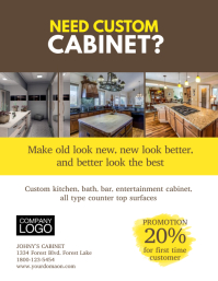 Custom Cabinet Business Flyer Poster