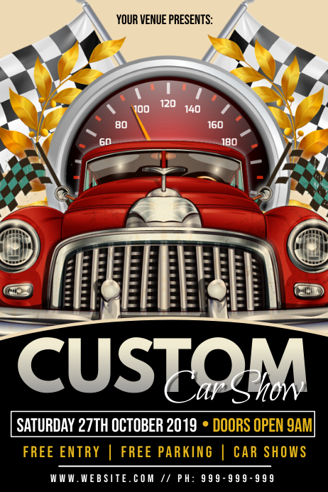Custom Car Show Poster template