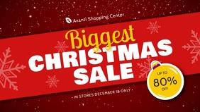 Custom Christmas Retail Sale Banner Video