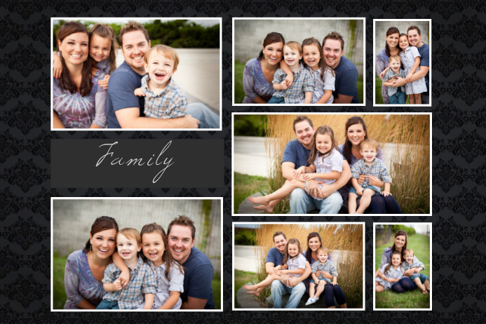 Custom Family Collage Template  Postermywall
