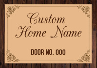 Custom Home name board Sign Template A3