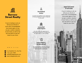 Custom Modern Metropolitan Real Estate Agency Flyer (US Letter) template