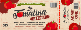 Custom Modern Tomato Festival Ticket Copertina Facebook template
