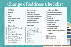 Custom New Address Checklist Poster template