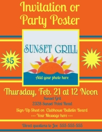 Custom Party, Event, Invitation, Election, summer, luau