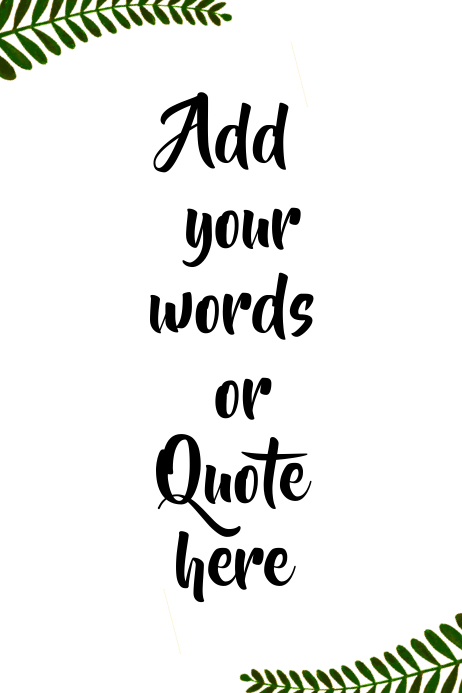 Custom Personalized Printable Wall Art Quote Template