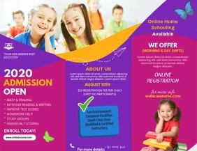 Custom School Admission Brochure Design Volante (Carta US) template