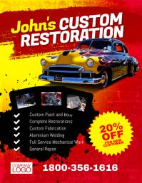 Custom Shop Paint Restoration Flyer