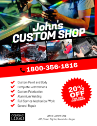 Custom Shop Paint Restoration FLyer