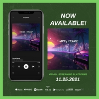 "Custom Spotify IPhone ""ALBUM RELEASE"" Template 专辑封面"