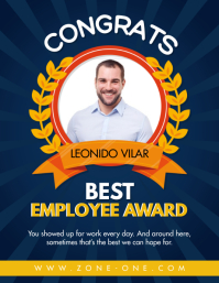Custom Staff and Employee Best Award Flyer (US Letter) template