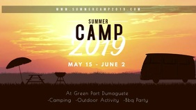 Custom Summer Camp Banner