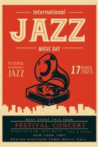 Custom Vintage Jazz Club Poster Design