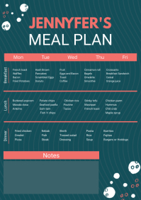 Custom Weekly Meal Planner