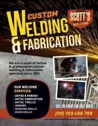 Custom Welding Flyer Løbeseddel (US Letter) template