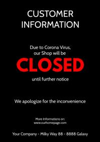 Customer information Poster flyer closed
