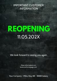 Customer information Poster flyer open reopen