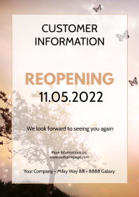 Customer information Poster flyer reopening c