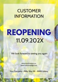 Customer information Poster flyer reopening
