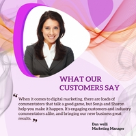 Customer review Message Instagram template