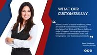 Customer review Blog overskrift template