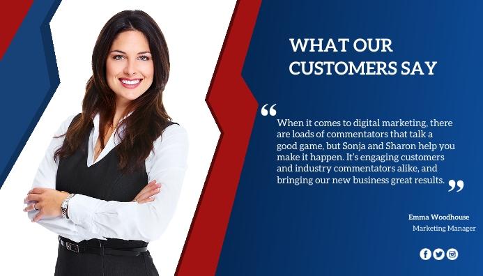 Customer review Blog Header template