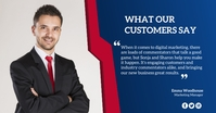 Customer review Facebook Ad template