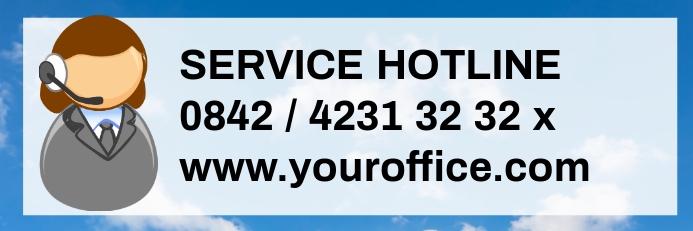Customer Service Information Banner Header Nu Spanduk 2' × 6' template