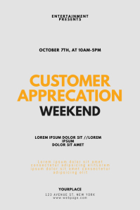 Customer Service Week Flyer Design Template