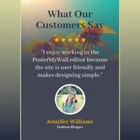 customer testimonial Instagram Plasing template