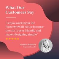 customer testimonial Instagram na Post template