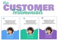 Customer Testimonials Pocztówka template