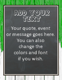 Customizable Chalkboard Flyer Poster