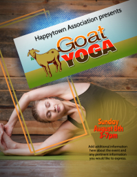 Customizable goat yoga flyer template