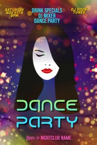 Customize This Animated Dance Party Club ad