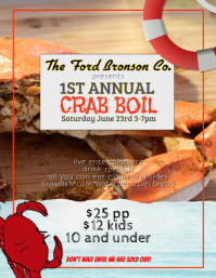 Customize This Crab Boil Flyer Template