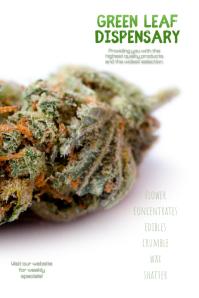 Customize this Dispensary Cannabis Template