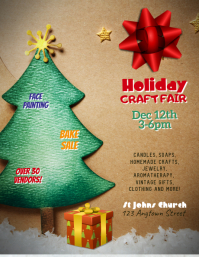 Customize this Holiday Craft Fair Template