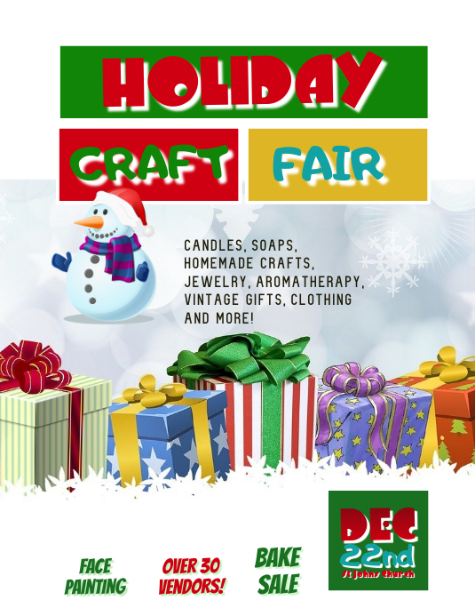 Customize This Holiday Craft Fair Template Postermywall