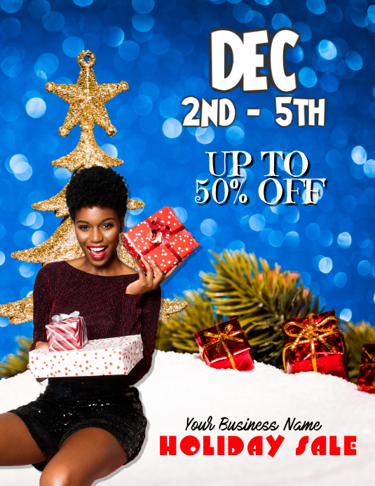 customize this holiday sales event flyer