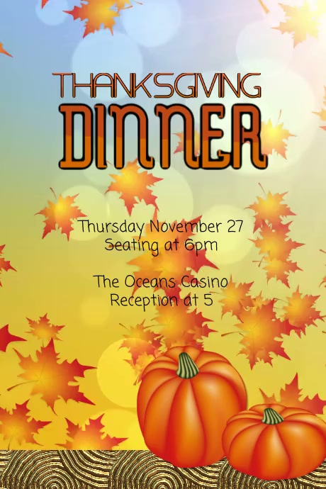 Customize this Thanksgiving Animated Template Plakat