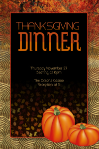 Customize this Thanksgiving Flyer Template