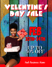 customize this Valentines sales event flyer