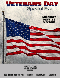Customize this Veterans Day Flyer Template